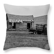 Abandoned Ford Truck And Shed Throw Pillow