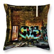 Abandoned, Hdr Throw Pillow