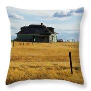 Abandoned Homestead Saskatchewan Throw Pillow