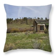 Abandoned House Throw Pillow