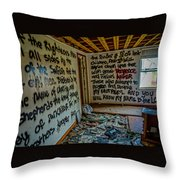 Abandoned House, Full Of Hope Throw Pillow