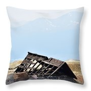 Abandoned In A Sea Of Mining Tailings Throw Pillow