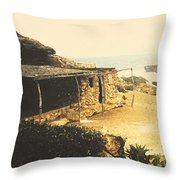Abandoned In Aruba Throw Pillow