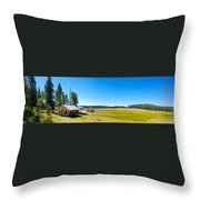 Abandoned In Meadow Throw Pillow
