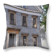 Abandoned In Salem Throw Pillow