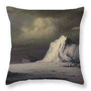 Abandoned In The Arctic Ice Fields Throw Pillow