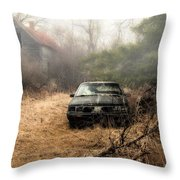 Abandoned In The Fog Throw Pillow