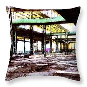 Abandoned Industry Throw Pillow