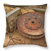 Abandoned Items On Shelf Throw Pillow