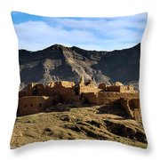 Abandoned Kasbah Throw Pillow