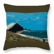Abandoned Keys Bridge Throw Pillow