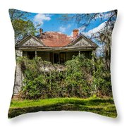 Abandoned Mansion Throw Pillow