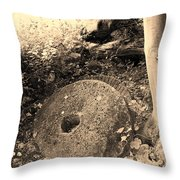 Abandoned Mill-stone Throw Pillow