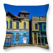 Abandoned Milwaukee Fire House Throw Pillow