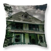 Abandoned Miners Boarding House Throw Pillow