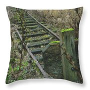 Abandoned Miniature Railway Throw Pillow
