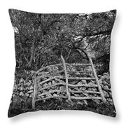 Abandoned Minorcan Country Gate Throw Pillow