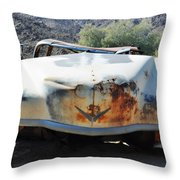 Abandoned Mojave Auto Throw Pillow