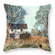 Abandoned Moonlight Throw Pillow