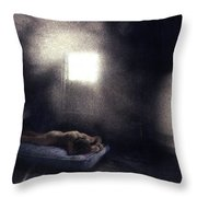 Abandoned Nude Throw Pillow