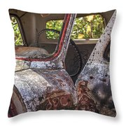 Abandoned Old Truck Newport New Hampshire Throw Pillow