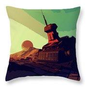 Abandoned On An Alien World Throw Pillow