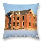 Abandoned On Timber 2 Throw Pillow