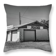 Abandoned Peach Stand Throw Pillow