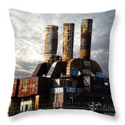 Abandoned Power Plant Throw Pillow