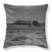 Abandoned Project Throw Pillow