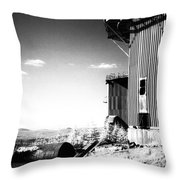 Abandoned Radar Throw Pillow