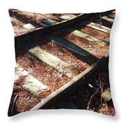 Abandoned Railtracks Throw Pillow