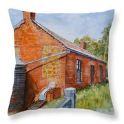 Abandoned Red Brick Cottage Near Maldon Throw Pillow