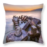 Abandoned Rise Throw Pillow