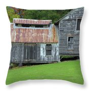 Abandoned Shack By The Road Throw Pillow