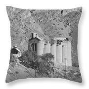 Abandoned Silos Throw Pillow
