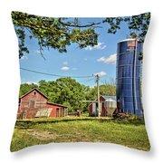 Abandoned Spring Farm Throw Pillow