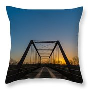 Abandoned Steel Bridge Throw Pillow