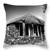 Abandoned Stone House Throw Pillow