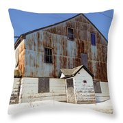 Abandoned Storage Throw Pillow