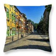 Abandoned Street Throw Pillow