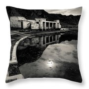Abandoned Swimming Pool Throw Pillow