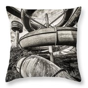Winding Slide - Abandoned Swimming Pool Throw Pillow