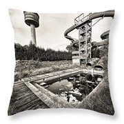 Abandoned Swimming Pool - Lost Places Throw Pillow