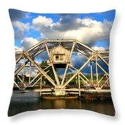 Abandoned Swingbridge Throw Pillow