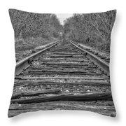 Abandoned Tracks Throw Pillow