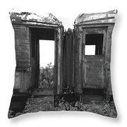 Abandoned Train Cars B Throw Pillow