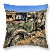 Abandoned Truck Throw Pillow