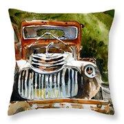 Abandoned Truck Throw Pillow
