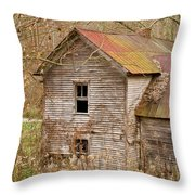 Abandoned Turn Of Centruy Home Throw Pillow